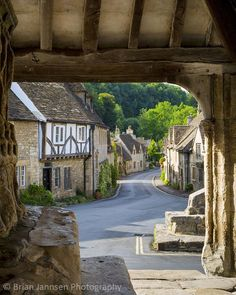 View through Market Cross Monument in Castle Combe, the Cotswolds, Wiltshire, England. © Brian Jannsen Photography I think I was here many years ago. England And Scotland, England Uk, Scotland Uk, Travel England, The Places Youll Go, Places To Visit, Castle Combe, English Village, English Countryside