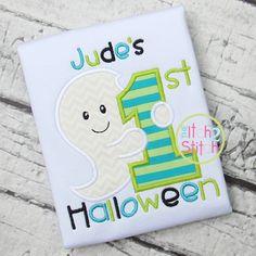 First Halloween Ghost Applique