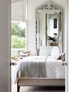 white walls, gray throw