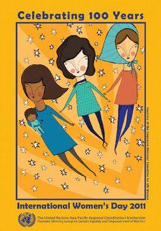 International Women's Day 2011 poster - Celebrating 100 Years.