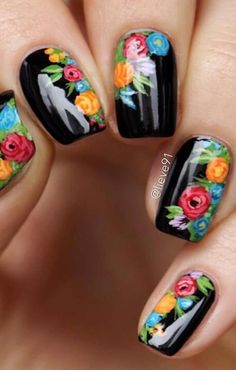 Your own home is your castle, and with a few do-it-by yourself ingenuity you may renovate your home with surprising creative imagination. Spring Nails, Summer Nails, Cute Nails, Pretty Nails, Karma Nails, Uñas One Stroke, Mexican Nails, Floral Nail Art, Latest Nail Art