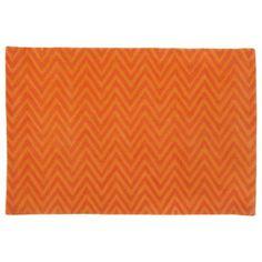 Kids' Rugs: Kids Orange Chevron Cotton Rug in Patterned Rugs - playroom rug