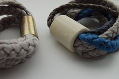 Bracelets in cotton- metal and cotton-ceramics- particular-www.scicche.it