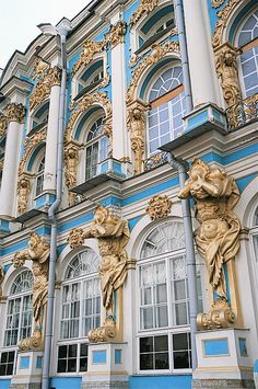 Catherine Palace Most Beautiful Castles in The World Russia Russian Architecture, Beautiful Architecture, Art And Architecture, Beautiful Castles, Beautiful Buildings, Beautiful Places, Winter Palace, Catherine The Great, St Petersburg Russia