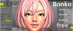 Free Bonko Girl Character for Shade 3D, Unity 3D & iClone