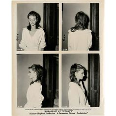 Breakfast at Tiffany's Audrey Hepburn hair test Polaroid lookbook... ❤ liked on Polyvore featuring pictures, people, photos, fillers and backgrounds