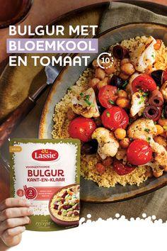 In een handomdraai Bulgur met bloemkool en tomaat.