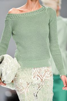Ermanno Scervino Spring 2012  that sweater..that color