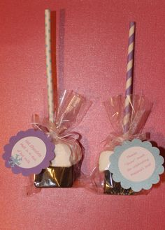 """Homemade Hot Chocolate Straw Pops. Great """"Frozen"""" party favors, Winter ONE-derland/wonderland party favors, teachers gifts, etc. by ChristyCustomCreates on Etsy"""