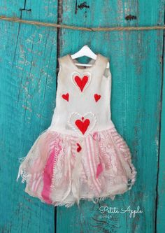 Blythe doll outfit Take my heart OOAK vintage by PetiteAppleShop
