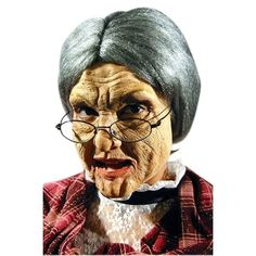 """This old woman face mask appliance kit is designed to bring your little old lady, kooky witch or grandma costume to the next level. It sells for $24.99 on<a href=""""http://www.totallycostumes.com/eh-63824-old-woman-face-appliance-kit.html""""> TotallyCostumes.com.</a>"""