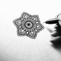 Itty-bitty in progress. #art #drawing #inkpen #mandala #madalas #doodle #zendoodle #mandalala #mandalamaze #heymandalas #beautiful_mandalas #mandalaplanet #blxckmandalas by pencilworkbyjanne