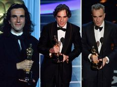 Daniel Day-Lewis   L- R   My Left Foot ( 1990) There Will Be Blood (2008)  Lincoln (2013)
