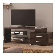 Contemporary TV Console in Cappuccino | Nebraska Furniture Mart