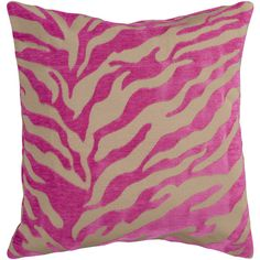 Fuschia and beige animal print pillow by Surya (JS-027)