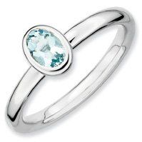 0.4ct Fabulous Silver Stackable Oval Aquamarine Ring. Sizes 5-10 Available Jewelry Pot. $37.99. Fabulous Promotions and Discounts!. 30 Day Money Back Guarantee. 100% Satisfaction Guarantee. Questions? Call 866-923-4446. All Genuine Diamonds, Gemstones, Materials, and Precious Metals. Your item will be shipped the same or next weekday!