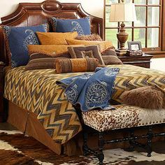 Denim bedding from King Ranch Saddle Shop has the perfect colors for Fall 2013 western decorating.