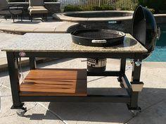 Custom Weber Grill Table   Brian Alan Tables