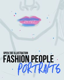 Collection of #fashion #illustration #portraits by Open Toe Illustration
