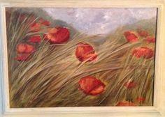 Campo di papaveri  olio su tela, 35x50