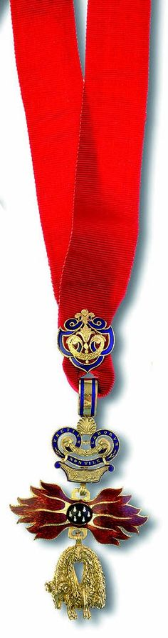 Order of the Golden Fleece (Austrian) - Badge (small size) made by Rothe after 1918 (gold, enamels)