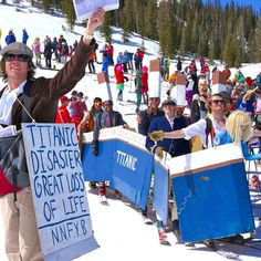 Ain't no party like a #CrestedButte ski/race/costume #party! #aljohnsonrace #skiuphill #costumeparty #bestplaceonearth #titanic  Photo: Chris Segal