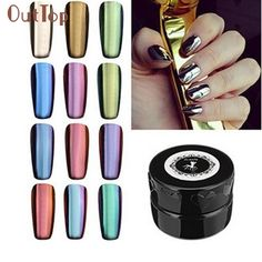 (41.21$)  Watch now - http://aik0r.worlditems.win/all/product.php?id=32755228354 - Beauty Girl Hot Porpular 12 Colors Nail Glitter Powder Shinning Mirror Makeup Art DIY Chrome Pigment With Sponge Stick Pen Oct21