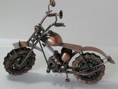 Harley Davidson Metal Motorcycle Sculpture by MetalDecorative4You, $40.00