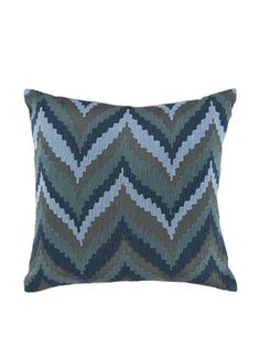 42% OFF Surya Chevron Throw Pillow, Goblin Blue