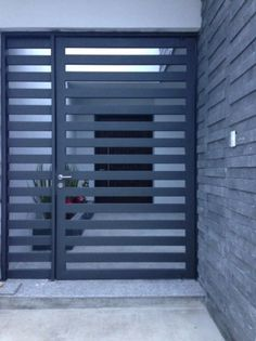 Front Door Grill Design For House Front Gate Design, House Gate Design, Door Gate Design, Wooden Door Design, Metal Gates, Wrought Iron Doors, Metal Garden Gates, Metal Fence, Brick Fence