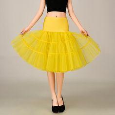 2016 Wedding Petticoat Summer Dress Short A Line Crinoline Underskirt Yellow Petticoats For Prom Dresses Tutu Skirts