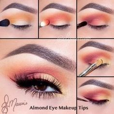 24 Terrific Makeup Ideas For Almond Eyes There is no one for all makeup, we know that. If you are the lucky owner of almond eyes you have come to the right place, all best looks are gathered here! Makeup Eye Looks, Eye Makeup Steps, Beautiful Eye Makeup, Beauty Makeup, Awesome Makeup, Makeup Art, Dramatic Makeup, Makeup Goals, Makeup Inspo