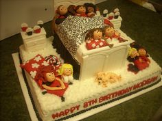 Slumber Party Birthday Cake, by wwwLuLusSweetExpectations.com