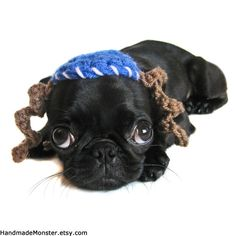 """Tiny puppy w/paes (that doesn't look right, oh well) = cutest thing EVER.... JFT. :D """"passover DOG HATS MITZVAH bar bat bas cat hat by HandmadeMonster, $15.00"""""""