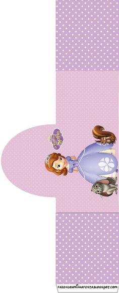 Princesa Sofía: Etiquetas para Imprimir Gratis. Más