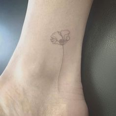 California Poppy Tattoo--love the delicate line work