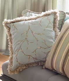 Spring Willow Trimmed Pillow