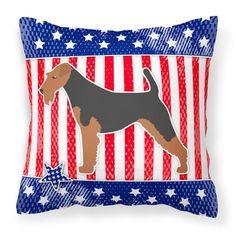 Caroline's Treasures Patriotic Indoor/Outdoor Throw Pillow Size: 1
