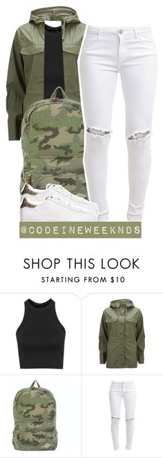 """""""2/13/16"""" by codeineweeknds ❤ liked on Polyvore featuring Topshop, Current/Elliott, Billabong, FiveUnits and adidas Originals"""