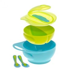 Easy-hold handle. Removable divider. Perfect for meals on-the-go. Microwavable vents in lid suitable for reheating food on-the-go. Wipe-edge for easy spooning & feeding. Mix & match lids with our Snack Pot Bowl. Ideal for little ones to encourage self-feeding. BPA Free.