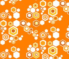 hive - orange blossom fabric by kurtcyr on Spoonflower - custom fabric