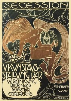 Kunstausstellung Wien Plakat 1899 Kolo Moser K&K Faksimile 24 b