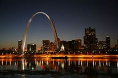St. Louis Arch and the Mississippi Riverfront...