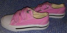 Joe Boxer Girls Lil Miles Pink Toddler 9M Canvas Sneaker Velcro Casual Play Kids Revised!