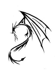 Simple Dragon Tribal Images & Pictures - Becuo