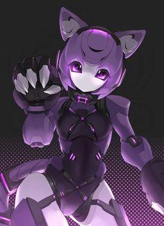Anime Girl Hot, Anime Girl Neko, Anime Art Girl, Kawaii Anime, Anime Guys, Robot Cute, Anime Kitten, Anime Wolf Drawing, Animes Yandere