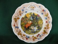 Royal Doulton ~ Brambly Hedge Plate ~ 'Year 1998'
