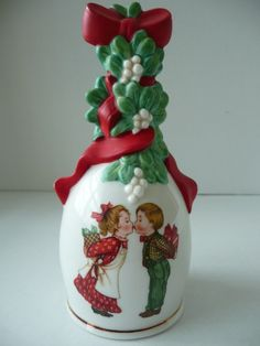 Avon Porcelain Collectible Christmas Bell by SimplyElegantVintage