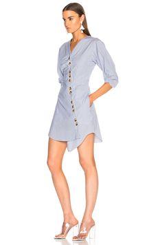 Tibi Jones Shirt Dress in Blue Multi | FWRD