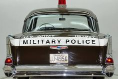 Cop Out, 57 Chevy Bel Air, 1957 Chevrolet, Military Police, Emergency Vehicles, Police Cars, Military History, Us Army, Cops